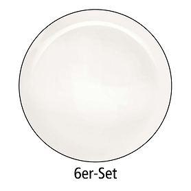 Essteller 6er-Set á Table ligne noir