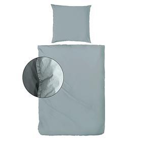 Bettwäsche Stone-Washed graugrün 135x200