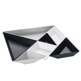 Gourmet-Schalen-Set Tangram 7tlg. Schwarz/weiß
