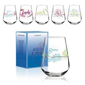 Wasser- und Weinschorleglas Aqua e Vino