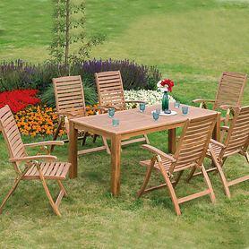 Set 6 Klappsesseln Tisch 185 x 90cm, 7- Post