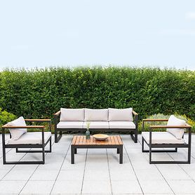 "*NEU*: Gartenlounge-Set ""Mykonos"" aus Aluminium, 4-teilig"