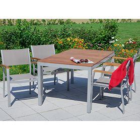 Set 3 4 Stapelsesseln Tisch 150 x 90cm, 5tlg