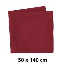 Tischläufer Linnen rot  50x140cm