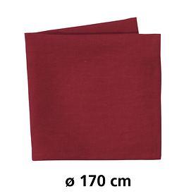 Tischdecke Linnen rund rot D:170cm