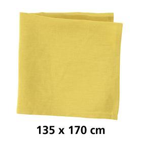 Tischdecke Linnen gelb 135x170