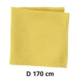 Tischdecke Linnen gelb D 170