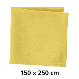 Tischdecke Linnen gelb 150x250