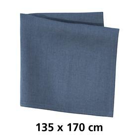 Tischdecke Linnen blau 135x170