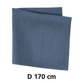 Tischdecke Linnen blau D 170