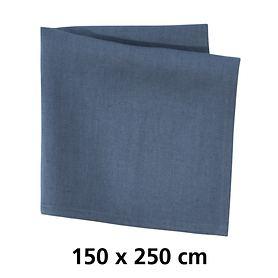 Tischdecke Linnen blau 150x250
