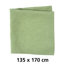 Tischdecke Linnen grün 135x170
