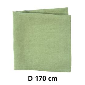 Tischdecke Linnen grün D 170