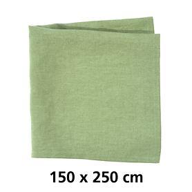 Tischdecke Linnen grün 150x250