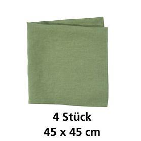 Serviette Linnen grün 4 Stück