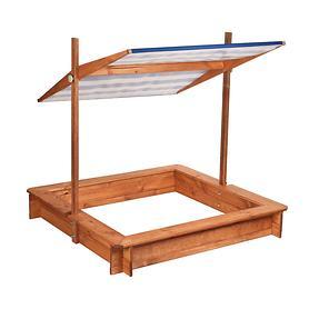 Sandkasten mit Dach blau/weiß höhenverstellbar | Kinderzimmer > Spielzeuge > Sandkästen
