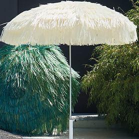 "*NEU*: Sonnenschirm ""Hawaii"" aus Stahl, silber/weiß"