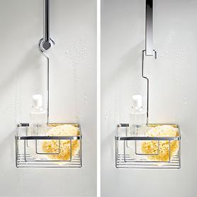 Duschkorb mit rundem oder eckigem Bügel