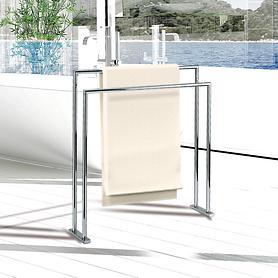 Design-Handtuchhalter verchromt