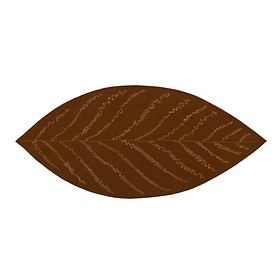 Aufleger Leaf, braun, groß 30 x 67 cm