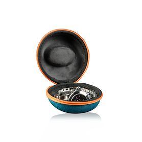 Uhrenbox Donut türkis/orange