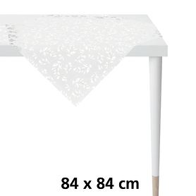 Tischdecke Ilex weiß/silber