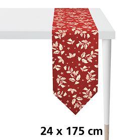 Tischband Ilex rot/gold