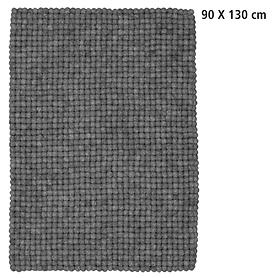 Design-Filzkugel-Teppich Hugo 90x130
