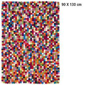 Optimal: Design-Filzkugel-Teppich Lotte 90x130 Hit