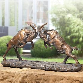 Skulptur Kämpfende Böcklein
