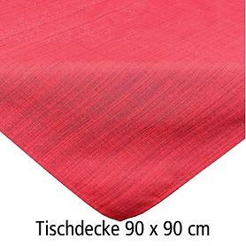 Tischdecke Outdoor rot 90x90