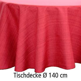 Tischdecke Outdoor rot D 140