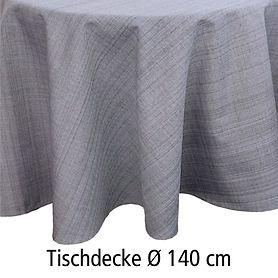 Tischdecke Outdoor grau D 140
