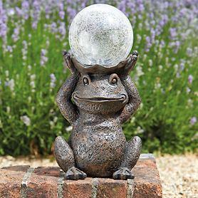 LED-Solar-Skulptur Frosch