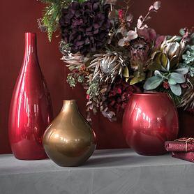 Glasvasen mit Metallic-Effekt Wanda