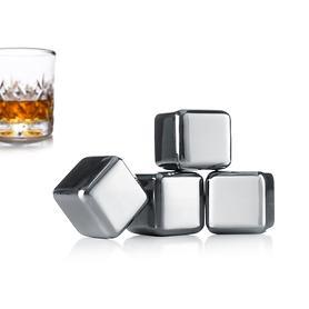 Edelstahl-Kühlwürfel Whiskey Stones, 4er-Set