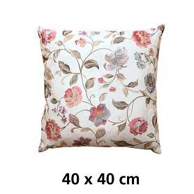 Kissenhülle Blumenmotiv 40x40cm