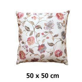 Kissenhülle Blumenmotiv 50x50cm
