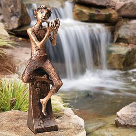 Skulptur Flötenspieler