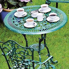 Tisch 'Versailles', grün D 70 cm H 70 cm