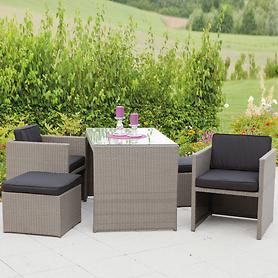 Lounge-Set Merano 5tlg. Grau Must-Have, Highlight 4430