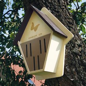 "*NEU*: Schmetterlingshaus ""Papillon"" aus Pappelholz, beige"