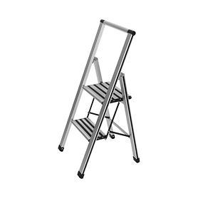 Alu-Design-Klapptrittleiter Punto 2-stufig