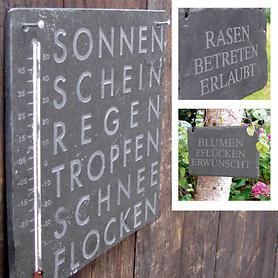 Schiefer-Gartenschild