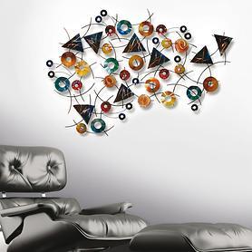 Metallische Wandskulptur Kaleidoscope