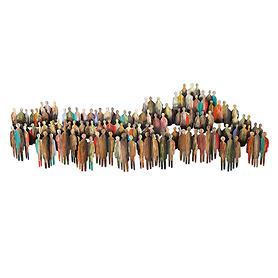 Wandskulptur Multitude