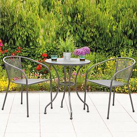 Metall-Gartenmöbel-Set, 2 Stühle 1 Tisch