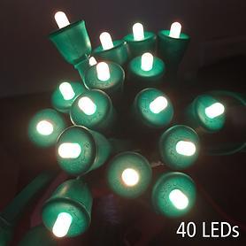 MiPow - Smartphone-gesteuerte LED-Lichterkette, 40 LED grünes Kabel 10 m, Starter-Set