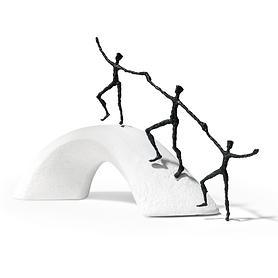 Skulptur 'Wir bauen Brücken'