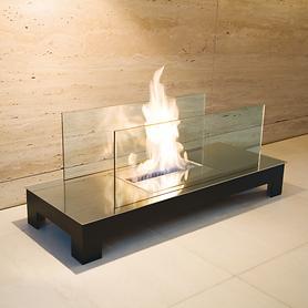 Feuerstelle Floor Flame schwarz / Edelstahl